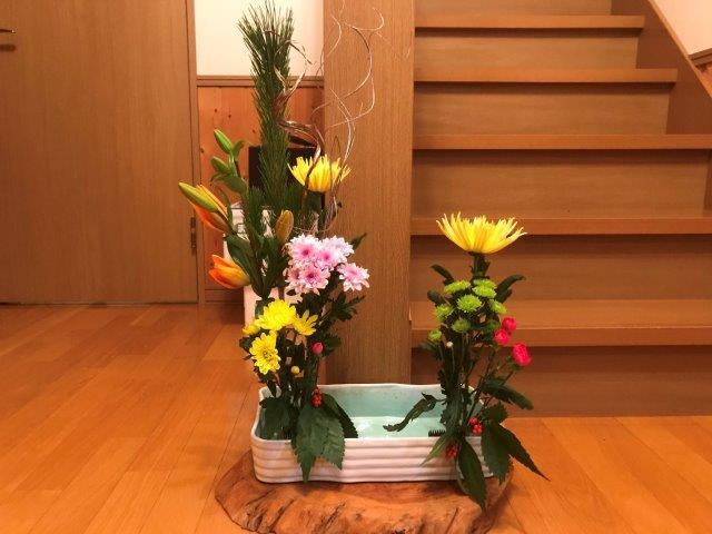 正月飾り~お花生けました~